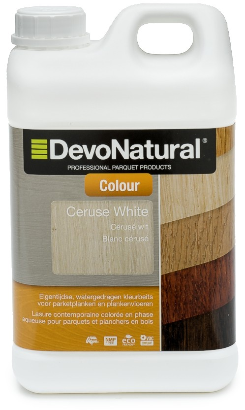 DevoNatural Colour - Contemporary odourless water-based colour stain for parquet and wooden floors.
